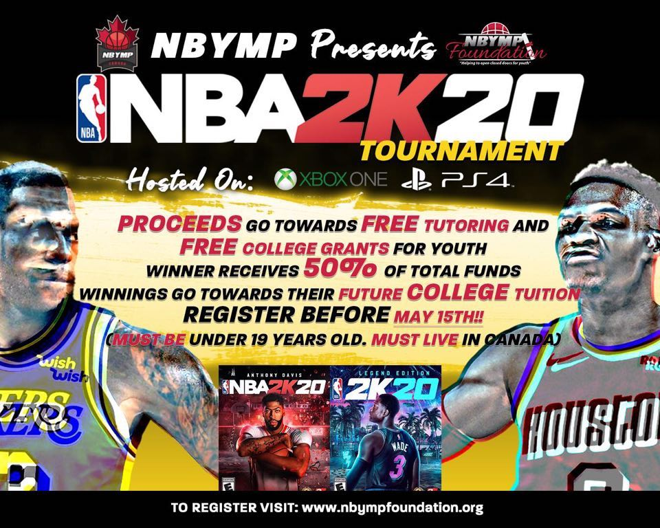 NBYMP Foundation NBA 2k20 Tournament flyer