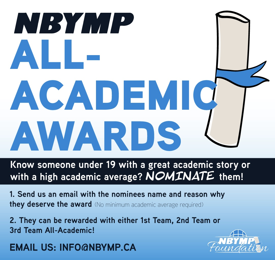 NBYMP All-Academic Awards promotional infographic
