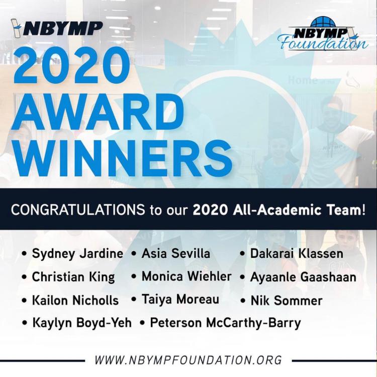 NBYMP 2020 Award Winners